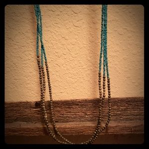 Turquoise and metal beads